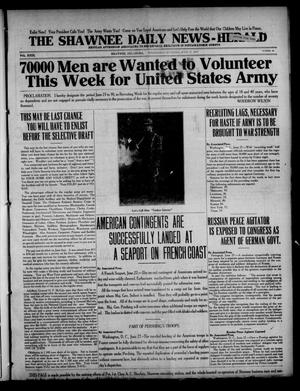 Primary view of The Shawnee Daily News-Herald (Shawnee, Okla.), Vol. 23, No. 68, Ed. 1 Wednesday, June 27, 1917