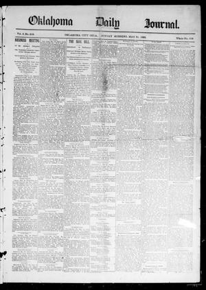 Primary view of object titled 'Oklahoma Daily Journal (Oklahoma City, Okla.), Vol. 2, No. 208, Ed. 1 Sunday, May 31, 1891'.