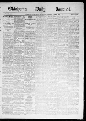 Primary view of object titled 'Oklahoma Daily Journal (Oklahoma City, Okla.), Vol. 2, No. 211, Ed. 1 Thursday, June 4, 1891'.