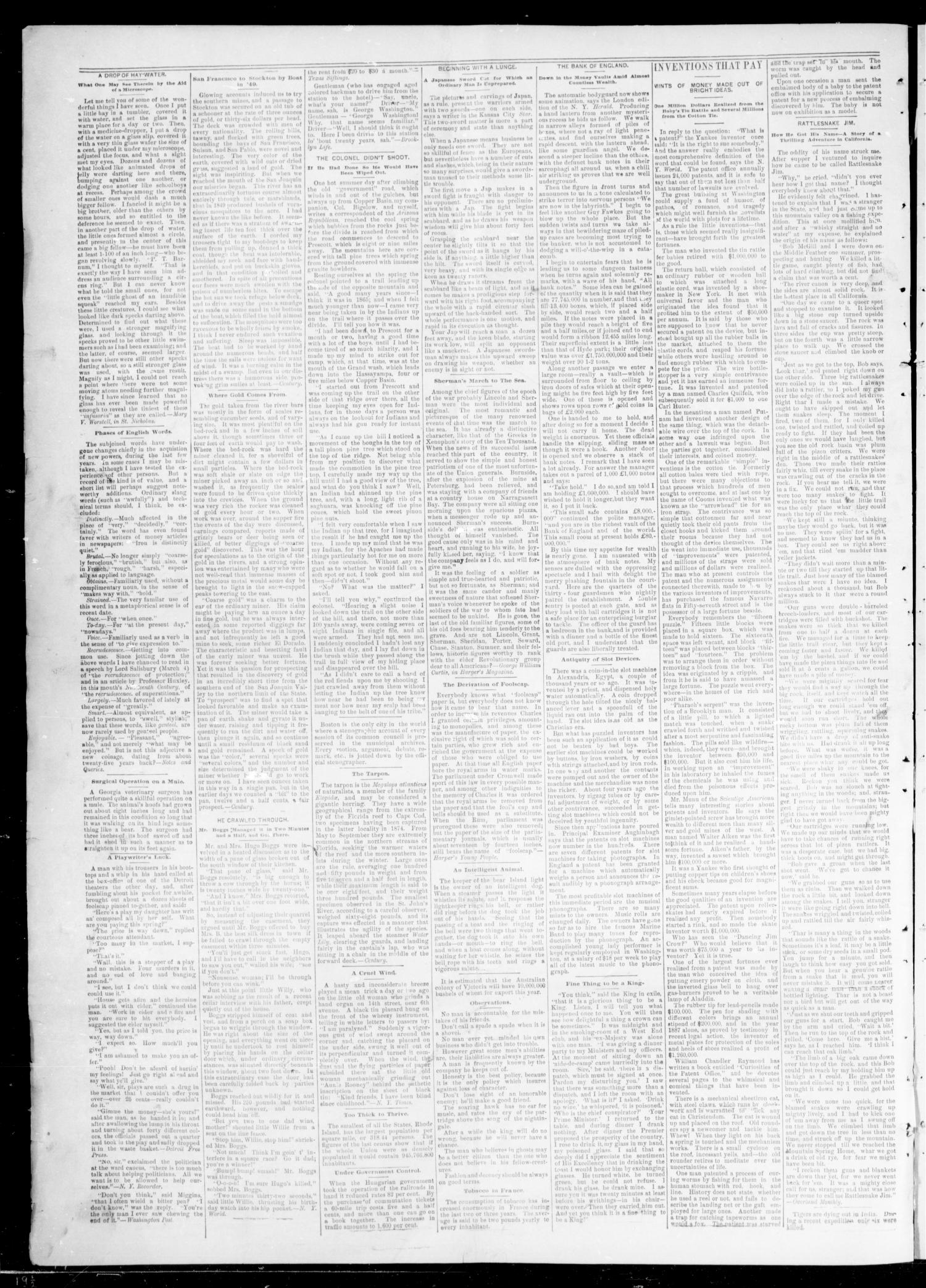 Oklahoma Daily Journal (Oklahoma City, Okla.), Vol. 2, No. 218, Ed. 1 Friday, June 12, 1891                                                                                                      [Sequence #]: 4 of 4