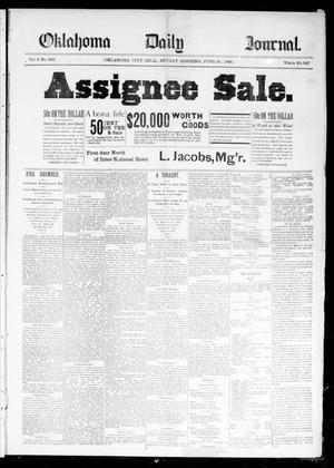 Primary view of Oklahoma Daily Journal (Oklahoma City, Okla.), Vol. 2, No. 226, Ed. 1 Sunday, June 21, 1891