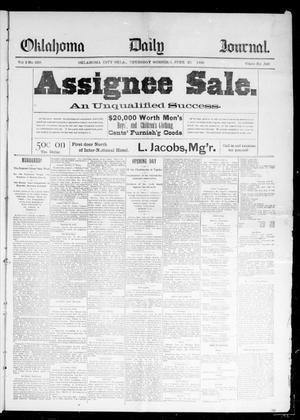 Primary view of Oklahoma Daily Journal (Oklahoma City, Okla.), Vol. 2, No. 229, Ed. 1 Thursday, June 25, 1891