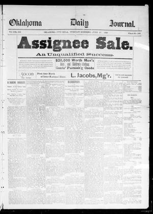 Primary view of Oklahoma Daily Journal (Oklahoma City, Okla.), Vol. 2, No. 233, Ed. 1 Tuesday, June 30, 1891