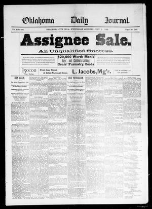 Primary view of Oklahoma Daily Journal (Oklahoma City, Okla.), Vol. 2, No. 235, Ed. 1 Wednesday, July 1, 1891