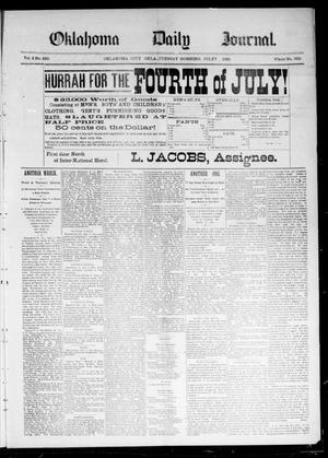 Primary view of Oklahoma Daily Journal (Oklahoma City, Okla.), Vol. 2, No. 239, Ed. 1 Tuesday, July 7, 1891
