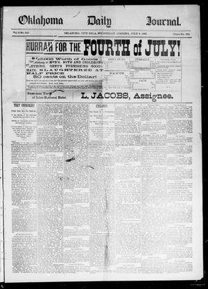 Primary view of object titled 'Oklahoma Daily Journal (Oklahoma City, Okla.), Vol. 2, No. 240, Ed. 1 Wednesday, July 8, 1891'.