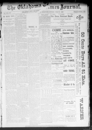 Primary view of object titled 'The Oklahoma Times Journal. (Oklahoma City, Okla. Terr.), Vol. 4, No. 318, Ed. 1 Sunday, July 16, 1893'.