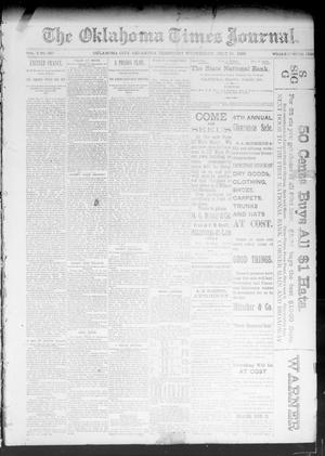Primary view of object titled 'The Oklahoma Times Journal. (Oklahoma City, Okla. Terr.), Vol. 4, No. 320, Ed. 1 Wednesday, July 19, 1893'.