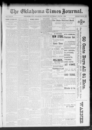 Primary view of object titled 'The Oklahoma Times Journal. (Oklahoma City, Okla. Terr.), Vol. 5, No. 40, Ed. 1 Saturday, July 22, 1893'.