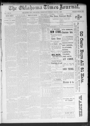 Primary view of object titled 'The Oklahoma Times Journal. (Oklahoma City, Okla. Terr.), Vol. 5, No. 41, Ed. 1 Sunday, July 23, 1893'.