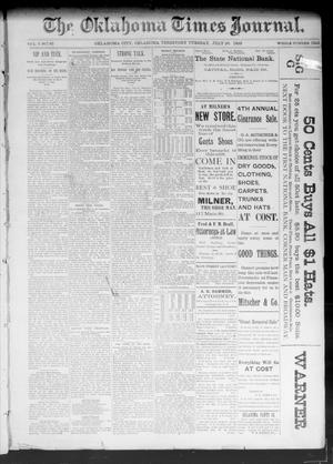 Primary view of object titled 'The Oklahoma Times Journal. (Oklahoma City, Okla. Terr.), Vol. 5, No. 42, Ed. 1 Tuesday, July 25, 1893'.
