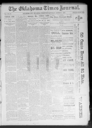 Primary view of object titled 'The Oklahoma Times Journal. (Oklahoma City, Okla. Terr.), Vol. 5, No. 52, Ed. 1 Saturday, August 5, 1893'.