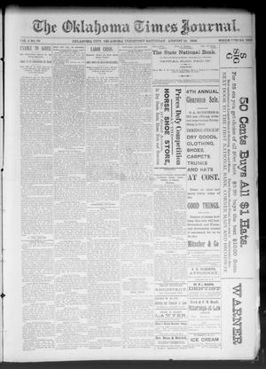 Primary view of object titled 'The Oklahoma Times Journal. (Oklahoma City, Okla. Terr.), Vol. 5, No. 58, Ed. 1 Saturday, August 12, 1893'.