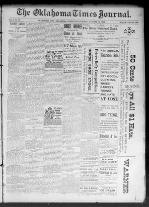 Primary view of object titled 'The Oklahoma Times Journal. (Oklahoma City, Okla. Terr.), Vol. 5, No. 59, Ed. 1 Sunday, August 13, 1893'.