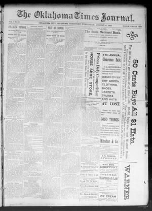 Primary view of object titled 'The Oklahoma Times Journal. (Oklahoma City, Okla. Terr.), Vol. 5, No. 61, Ed. 1 Wednesday, August 16, 1893'.