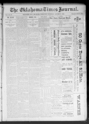 Primary view of object titled 'The Oklahoma Times Journal. (Oklahoma City, Okla. Terr.), Vol. 5, No. 62, Ed. 1 Thursday, August 17, 1893'.
