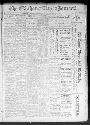 Primary view of object titled 'The Oklahoma Times Journal. (Oklahoma City, Okla. Terr.), Vol. 5, No. 63, Ed. 1 Friday, August 18, 1893'.