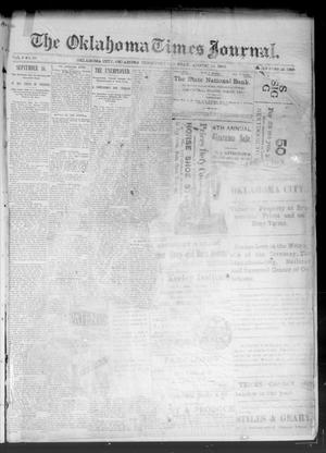 Primary view of object titled 'The Oklahoma Times Journal. (Oklahoma City, Okla. Terr.), Vol. 5, No. 64, Ed. 1 Saturday, August 19, 1893'.