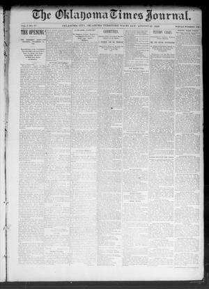Primary view of object titled 'The Oklahoma Times Journal. (Oklahoma City, Okla. Terr.), Vol. 5, No. 67, Ed. 1 Wednesday, August 23, 1893'.