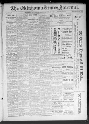 Primary view of object titled 'The Oklahoma Times Journal. (Oklahoma City, Okla. Terr.), Vol. 5, No. 70, Ed. 1 Saturday, August 26, 1893'.
