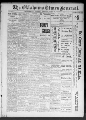 Primary view of object titled 'The Oklahoma Times Journal. (Oklahoma City, Okla. Terr.), Vol. 5, No. 74, Ed. 1 Thursday, August 31, 1893'.
