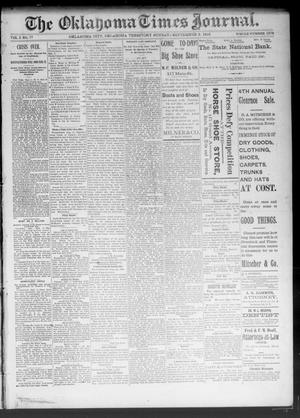 Primary view of object titled 'The Oklahoma Times Journal. (Oklahoma City, Okla. Terr.), Vol. 5, No. 77, Ed. 1 Sunday, September 3, 1893'.