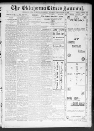 Primary view of object titled 'The Oklahoma Times Journal. (Oklahoma City, Okla. Terr.), Vol. 5, No. 88, Ed. 1 Saturday, September 16, 1893'.