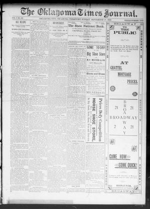 Primary view of object titled 'The Oklahoma Times Journal. (Oklahoma City, Okla. Terr.), Vol. 5, No. 89, Ed. 1 Sunday, September 17, 1893'.