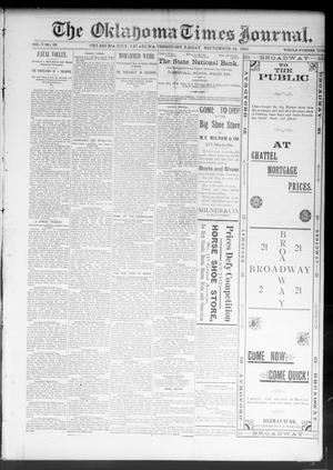 Primary view of object titled 'The Oklahoma Times Journal. (Oklahoma City, Okla. Terr.), Vol. 5, No. 93, Ed. 1 Friday, September 22, 1893'.