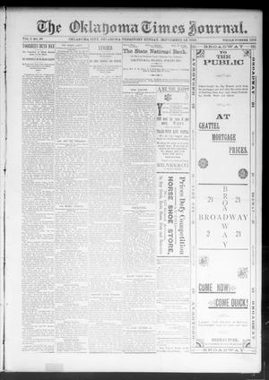 Primary view of object titled 'The Oklahoma Times Journal. (Oklahoma City, Okla. Terr.), Vol. 5, No. 95, Ed. 1 Sunday, September 24, 1893'.