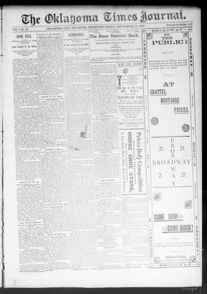 Primary view of object titled 'The Oklahoma Times Journal. (Oklahoma City, Okla. Terr.), Vol. 5, No. 99, Ed. 1 Friday, September 29, 1893'.