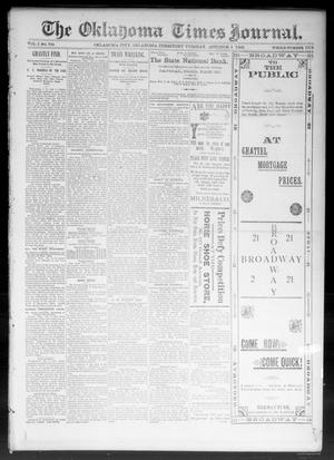 Primary view of object titled 'The Oklahoma Times Journal. (Oklahoma City, Okla. Terr.), Vol. 5, No. 102, Ed. 1 Tuesday, October 3, 1893'.