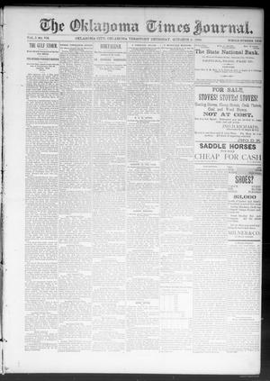 Primary view of object titled 'The Oklahoma Times Journal. (Oklahoma City, Okla. Terr.), Vol. 5, No. 104, Ed. 1 Thursday, October 5, 1893'.