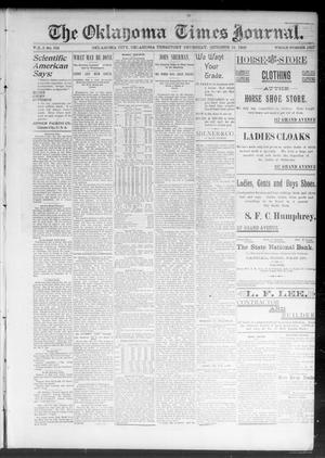 Primary view of object titled 'The Oklahoma Times Journal. (Oklahoma City, Okla. Terr.), Vol. 5, No. 116, Ed. 1 Thursday, October 19, 1893'.