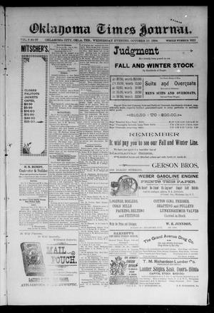Primary view of object titled 'Oklahoma Times Journal. (Oklahoma City, Okla. Terr.), Vol. 6, No. 97, Ed. 1 Wednesday, October 10, 1894'.