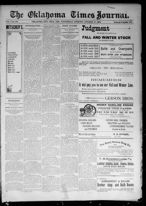 Primary view of object titled 'The Oklahoma Times Journal. (Oklahoma City, Okla. Terr.), Vol. 6, No. 103, Ed. 1 Wednesday, October 17, 1894'.