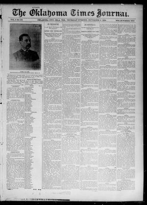 Primary view of object titled 'The Oklahoma Times Journal. (Oklahoma City, Okla. Terr.), Vol. 6, No. 122, Ed. 1 Thursday, November 8, 1894'.