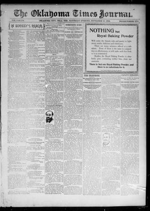 Primary view of object titled 'The Oklahoma Times Journal. (Oklahoma City, Okla. Terr.), Vol. 6, No. 124, Ed. 1 Saturday, November 10, 1894'.
