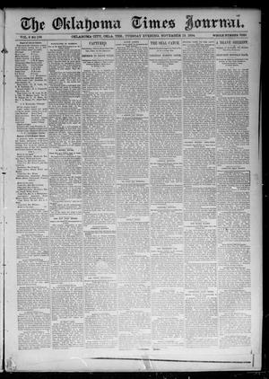 Primary view of object titled 'The Oklahoma Times Journal. (Oklahoma City, Okla. Terr.), Vol. 6, No. 126, Ed. 1 Tuesday, November 13, 1894'.