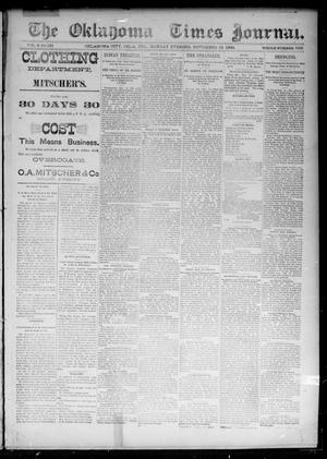 Primary view of object titled 'The Oklahoma Times Journal. (Oklahoma City, Okla. Terr.), Vol. 6, No. 131, Ed. 1 Monday, November 19, 1894'.
