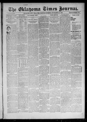 Primary view of object titled 'The Oklahoma Times Journal. (Oklahoma City, Okla. Terr.), Vol. 6, No. 137, Ed. 1 Monday, November 26, 1894'.
