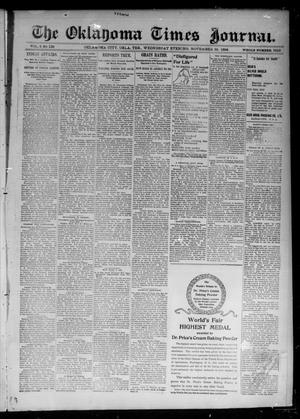 Primary view of object titled 'The Oklahoma Times Journal. (Oklahoma City, Okla. Terr.), Vol. 6, No. 139, Ed. 1 Wednesday, November 28, 1894'.