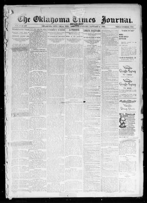 Primary view of object titled 'The Oklahoma Times Journal. (Oklahoma City, Okla. Terr.), Vol. 6, No. 167, Ed. 1 Wednesday, January 2, 1895'.