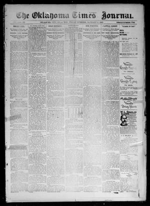 Primary view of object titled 'The Oklahoma Times Journal. (Oklahoma City, Okla. Terr.), Vol. 6, No. 169, Ed. 1 Friday, January 4, 1895'.