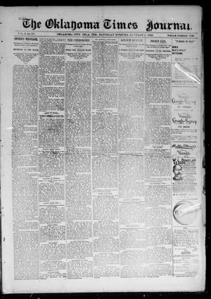 Primary view of object titled 'The Oklahoma Times Journal. (Oklahoma City, Okla. Terr.), Vol. 6, No. 170, Ed. 1 Saturday, January 5, 1895'.