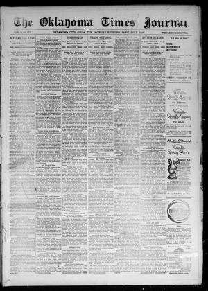 Primary view of object titled 'The Oklahoma Times Journal. (Oklahoma City, Okla. Terr.), Vol. 6, No. 171, Ed. 1 Monday, January 7, 1895'.