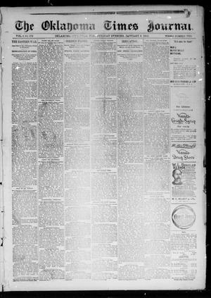 Primary view of object titled 'The Oklahoma Times Journal. (Oklahoma City, Okla. Terr.), Vol. 6, No. 172, Ed. 1 Tuesday, January 8, 1895'.