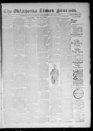 Primary view of object titled 'The Oklahoma Times Journal. (Oklahoma City, Okla. Terr.), Vol. 6, No. 175, Ed. 1 Friday, January 11, 1895'.