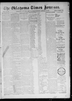 Primary view of object titled 'The Oklahoma Times Journal. (Oklahoma City, Okla. Terr.), Vol. 6, No. 176, Ed. 1 Saturday, January 12, 1895'.