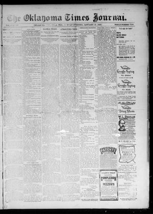 Primary view of object titled 'The Oklahoma Times Journal. (Oklahoma City, Okla. Terr.), Vol. 6, No. 177, Ed. 1 Monday, January 14, 1895'.